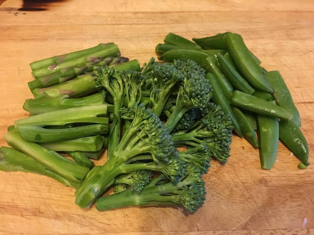 1.野菜を一口大にカットする