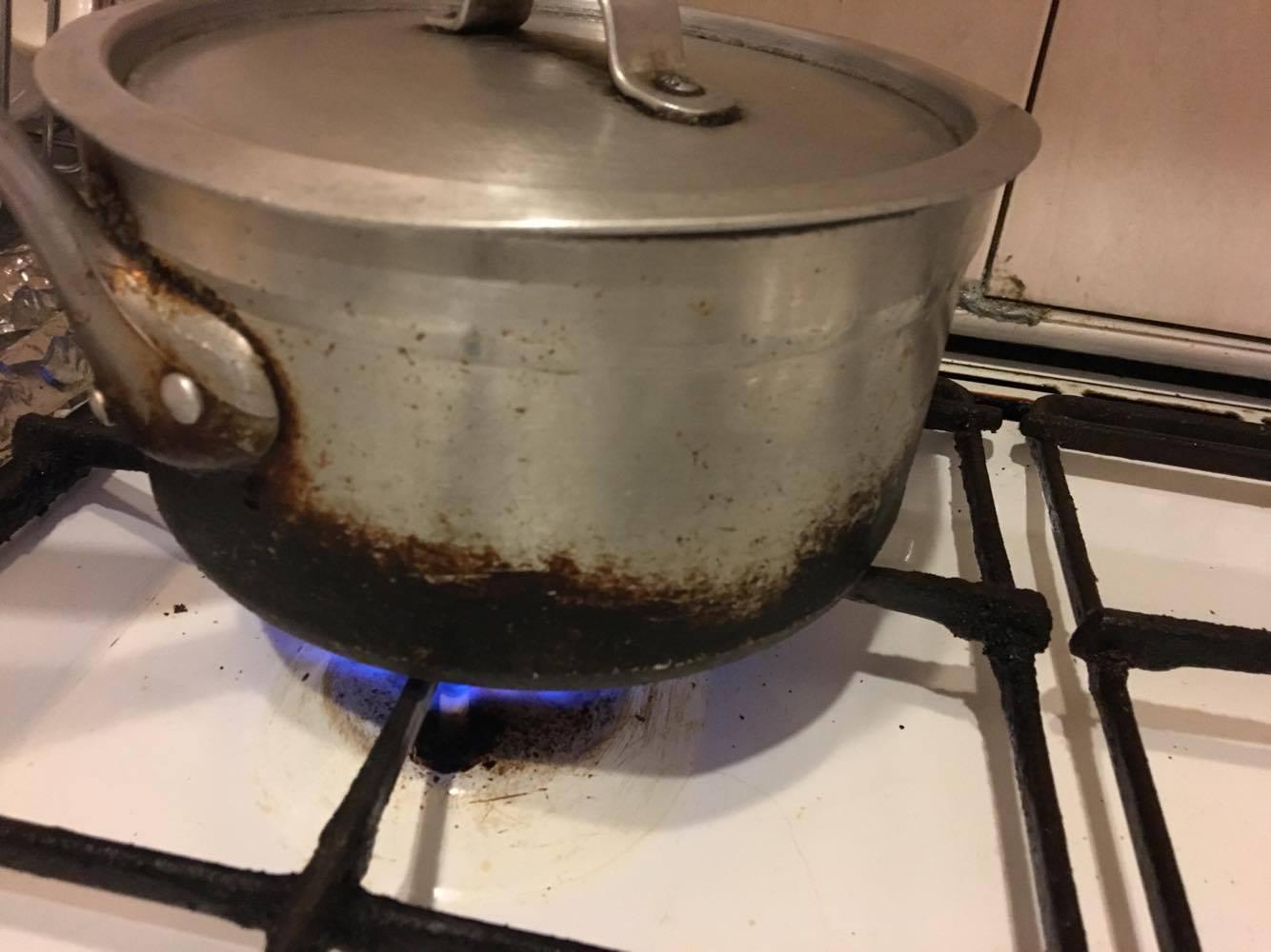 強火で炊く