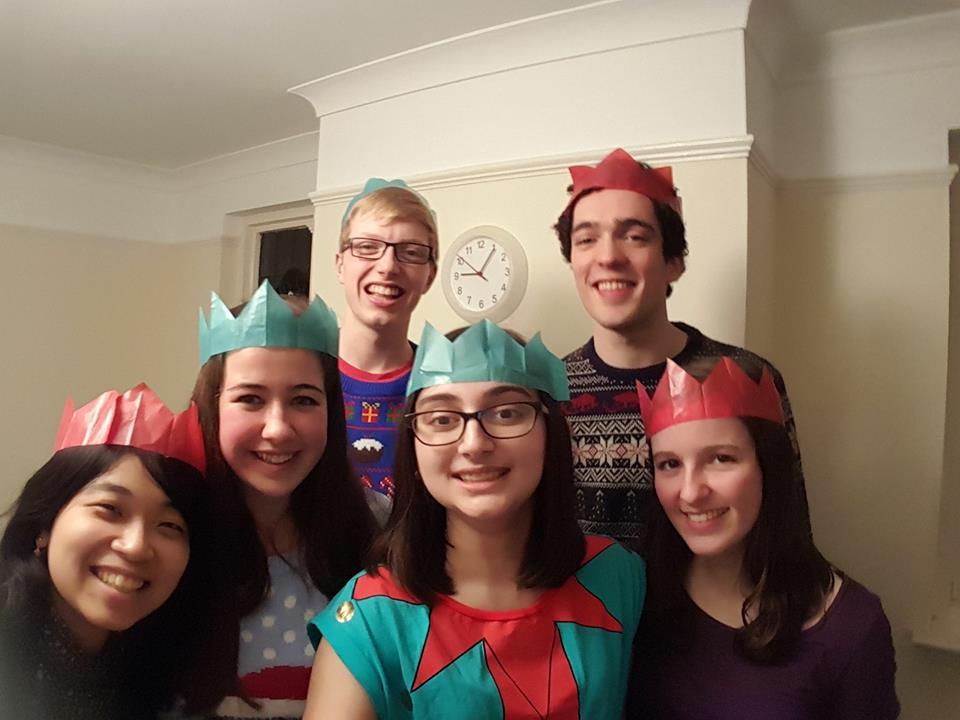 ハウスメイトとその友達とクリスマスディナー