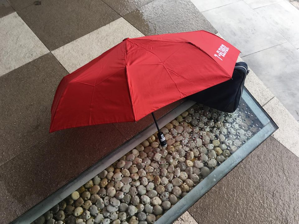 セブ島のセブンイレブンで買った折りたたみ傘