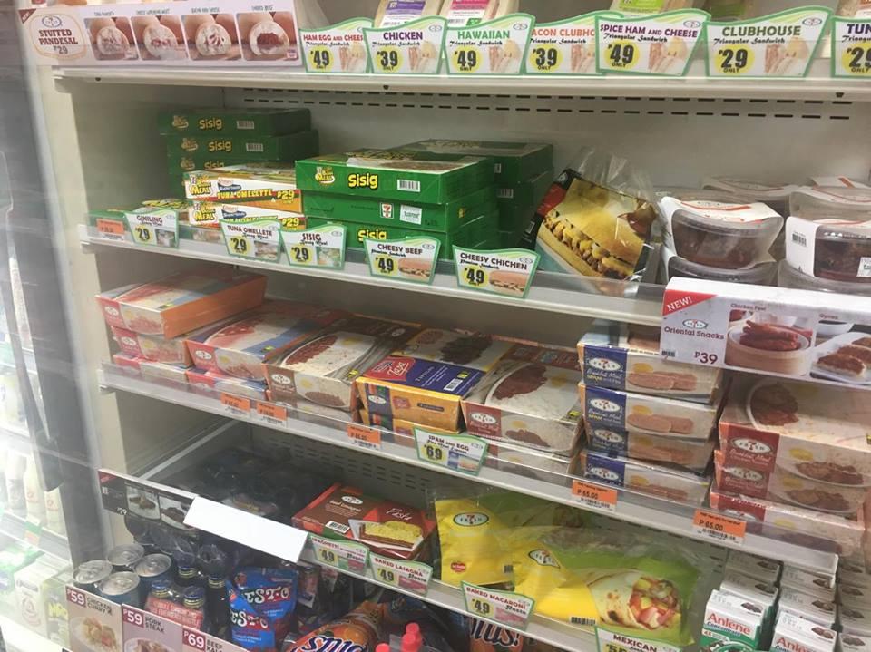 電子レンジで作るお弁当も売られていました。