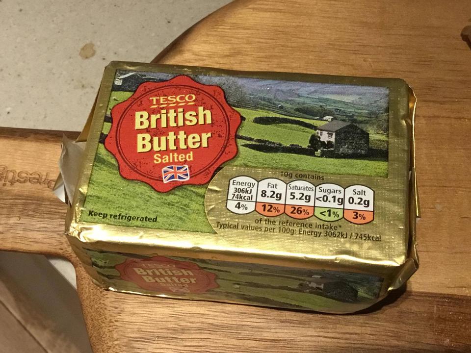 バターも買いました。有塩(salted)と無塩(unsalted)の両方ありましたが、今回はパンに塗る為に有塩バターをチョイス!