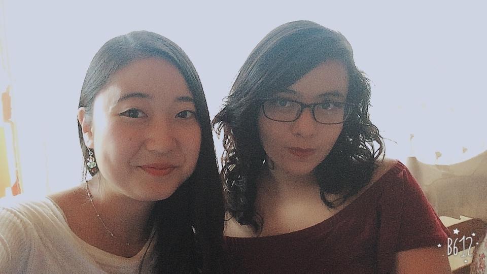 上野ソフィア緑さんと友人