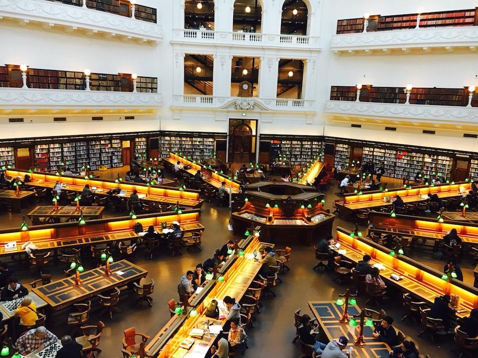 メルボルンの世界1の図書館State Library of Victoria