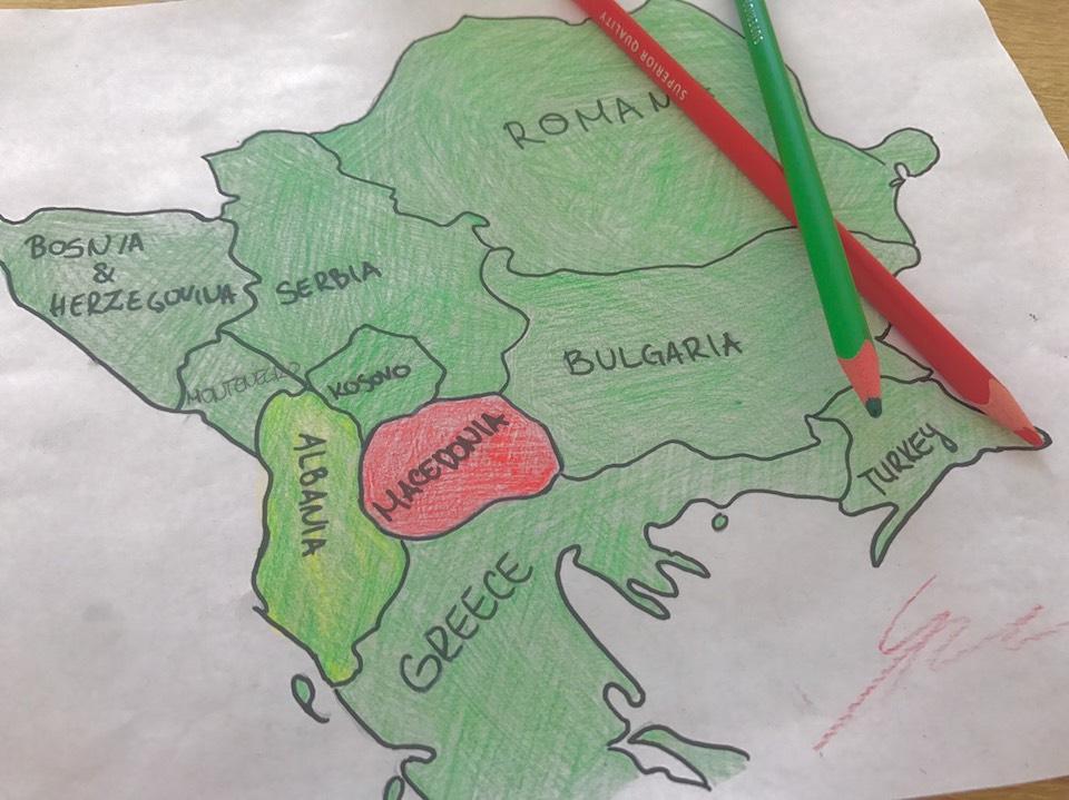 マケドニア 地図